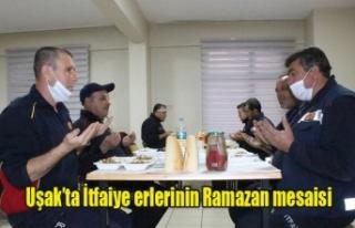 İtfaiye erlerinin Ramazan mesaisi