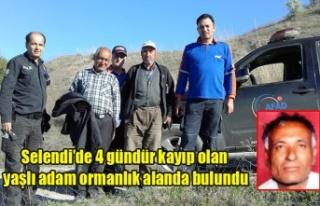 Selendi'de 4 gündür kayıp olan yaşlı adam...