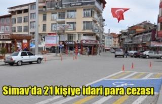 Simav'da 21 kişiye idari para cezası
