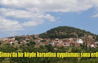 Simav'da bir köyde karantina uygulaması sona...