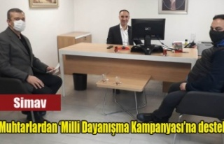 Simav'da Muhtarlardan 'Milli Dayanışma Kampanyası'na...