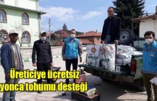 Simav'da Üreticiye ücretsiz Yonca Tohumu Desteği