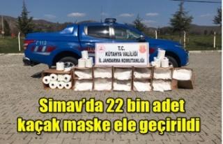 Simav'da 22 bin adet kaçak maske ele geçirildi