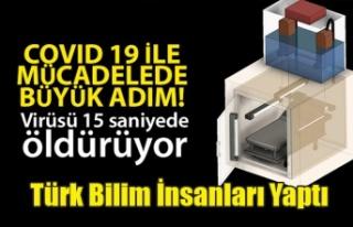 Türk bilimadamları Korona virüsü öldüren cihaz...