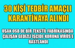 UŞAK OSB'DE BİR TEKSTİL FABRİKASINDA DAHA...
