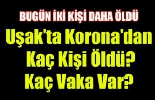UŞAK'TA KORONA VİRÜSÜNDEN KAÇ KİŞİ ÖLDÜ...