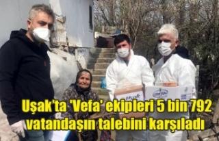 Uşak'ta 'Vefa' ekipleri 5 bin 792...