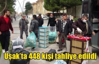 Uşak'ta 448 kişi tahliye edildi