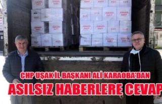 CHP UŞAK İL BAŞKANI ALİ KARAOBA'DAN ASILSIZ...
