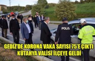 GEDİZ'DE KORONA VİRÜSÜ VAKA SAYISI 75'E...