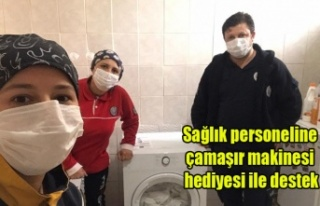 Sağlık personeline çamaşır makinesi hediyesi...