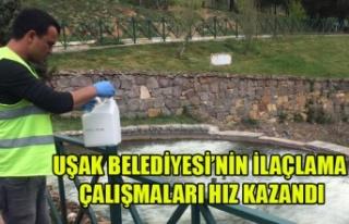 UŞAK BELEDİYESİ'NİN İLAÇLAMA ÇALIŞMALARI...