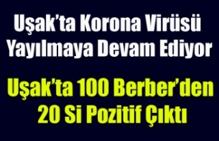 Uşak'ta 100 Berber'den 20 sinde Korona...