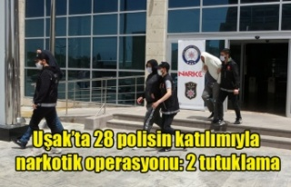 Uşak'ta 28 polisin katılımıyla narkotik operasyonu:...