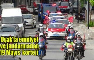 Uşak'ta emniyet ve jandarmadan '19 Mayıs'...