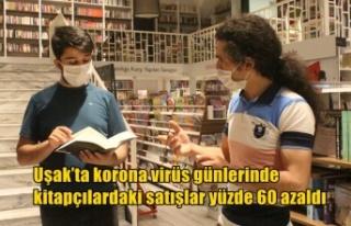 Uşak'ta korona virüs günlerinde kitapçılardaki...