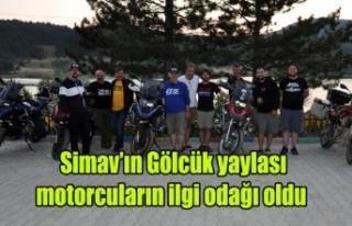Simav'ın Gölcük yaylası motorcuların ilgi...