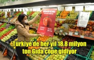 Türkiye'de her yıl 18,8 milyon ton gıdanın çöpe...