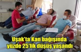 Uşak'ta Kan bağışında yüzde 25'lik düşüş...