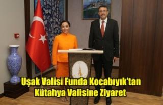 Uşak Valisi Funda Kocabıyık'tan Kütahya Valisine...