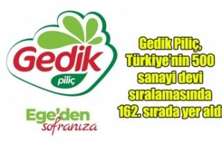 Gedik Piliç, Türkiye'nin 500 sanayi devi sıralamasında...