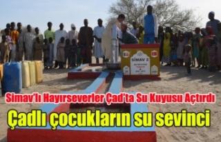 Simavlı Hayırseverler Çad'ta Su Kuyusu Açtırdı,...