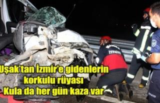 UŞAK İZMİR YOLU ÜZERİNDEKİ KULA DA KAZASIZ GÜN...