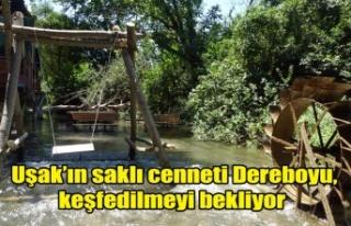 Uşak'ın saklı cenneti Dereboyu, keşfedilmeyi...