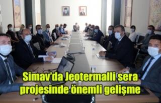 Simav'da Jeotermalli sera projesinde önemli...