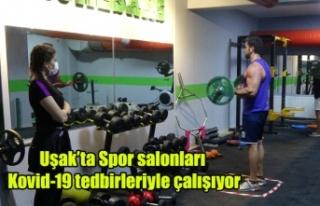 Uşak'ta Spor salonları Kovid-19 tedbirleriyle...