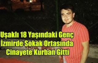 UŞAKLI GENÇ İZMİR'DE SOKAK ORTASINDA ÖLDÜRÜLDÜ