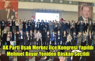 UŞAK AK PARTİ'DE MERKEZ İLÇE MEHMET BAYAR...