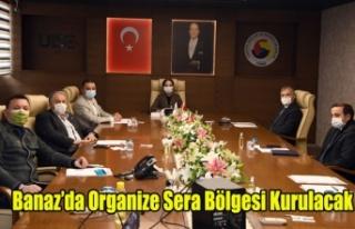 BANAZ'DA ORGANİZE SERA BÖLGESİ KURULMASI ÇALIŞMALARI...