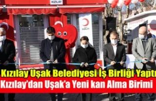 UŞAK BELEDİYESİNİN KATKILARI İLE KIZILAY UŞAK'TA...