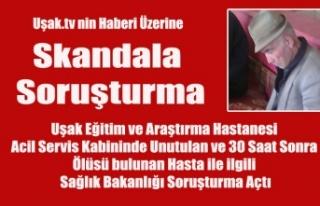 UŞAK EĞİTİM VE ARAŞTIRMA HASTANESİNDE KABİNDE...