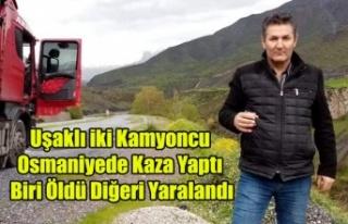 UŞAKLI İKİ KAMYONCU OSMANİYE'DE KAZA YAPTI...