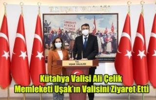 Kütahya Valisi Ali Çelik Memleketi Uşak'ın...