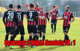 Uşakspor:2 Niğde Anadolu FK:1
