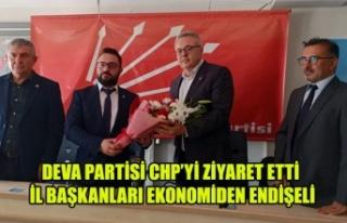 DEVA PARTİSİ UŞAK İL TEŞKİLATININ CHP ZİYARETİNDE...