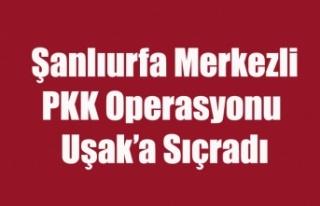 UŞAK'A DA SIÇRAYAN PKK OPERASYONUNDA 17 GÖZALTI...