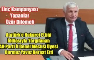 DURMUŞ YAVUZ BERAAT ETTİ, LİNÇ KAMPANYASI YAPANLAR...