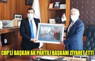 CHP'Lİ BAŞKAN AK PARTİLİ BAŞKAN'I ZİYARET...