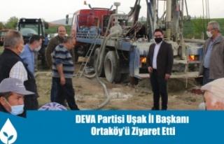 DEVA Partisi Uşak İl Başkanı Mehmet Ali Taşlı...