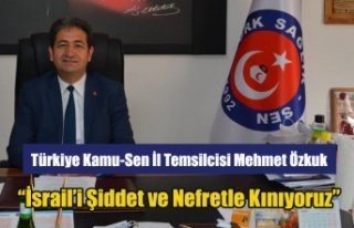 "Mehmet Özkuk: ""Türk Kamu-Sen olarak İsrail'i..."