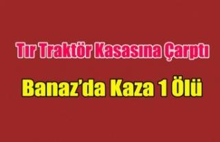 BANAZ'DA KAZA 1 ÖLÜ