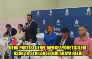 DEVA PARTİSİ GENEL MERKEZ YÖNETİCİLERİ UŞAK'TA...