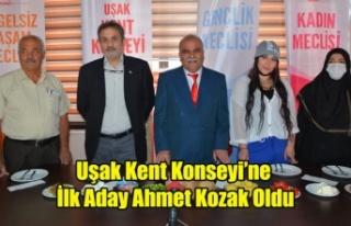 Uşak Kent Konseyi Başkanlığına İlk Aday Ahmet...