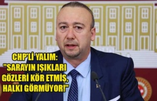 "CHP'Lİ YALIM: ""SARAYIN IŞIKLARI GÖZLERİ..."
