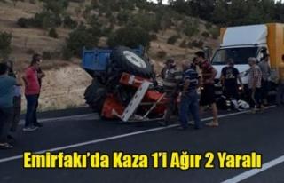 Uşak'ta Traktör Kazası 1'i Ağır 2 Yaralı