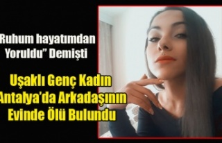 UŞAKLI GÜZELLİK UZMANI GENÇ KADIN ANTAL'YA...